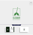 cleaner green environment simple logo template vector image vector image
