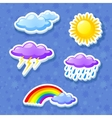 Colorful weather icon set vector | Price: 1 Credit (USD $1)