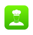 cook icon digital green vector image