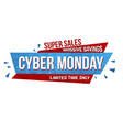 cyber monday banner design vector image