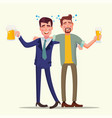 drunk office man funny friends relaxing vector image