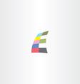 e letter colorful logo icon logotype e vector image vector image