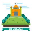 Eid Mubarak Flat design card vector image vector image