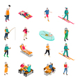 Elderly People Isometric Icons Set vector image vector image