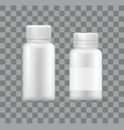 empty plastic medical containers isolated 3d icons vector image vector image