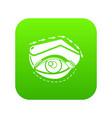 eyelid elevation icon green vector image