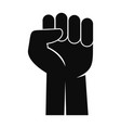 fist up icon simple style vector image vector image