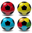 football soccer ball set isolated on white vector image