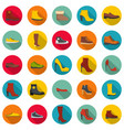 footwear shoes icon set flat style vector image vector image