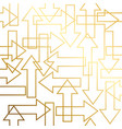 golden texture gold seamless arrow geometric vector image vector image