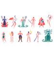 greek gods and goddess olympic cartoon gods vector image vector image