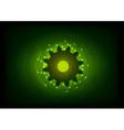green lighting cogwheel on the black vector image vector image