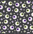 halloween eyeball seamless pattern on black vector image vector image