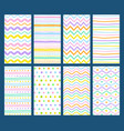hand drawn geometric pattern collection vector image