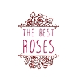 Handsketched typographic element with roses vector image vector image