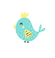 happy bird character in cartoon style isolated vector image vector image
