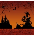 Holiday Halloween landscape vector image