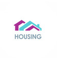 house rocolored logo vector image vector image