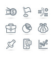 icon pack for finance and business vector image vector image