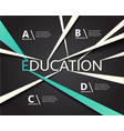 infographic education connection line vector image vector image