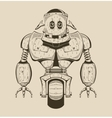It is an image of cartoon iron robot vector image vector image