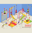 kids sports playground background vector image vector image