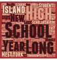 Long Island Schools Improve in the School Year vector image vector image