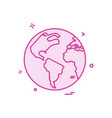 Map globe icon design
