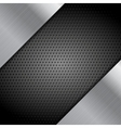 Metal perforated texture technical background vector image vector image
