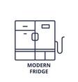 modern fridge line icon concept modern fridge vector image vector image