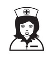 nurse face emotion icon sign design vector image