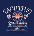 offshore sailing regatta yachting race vector image vector image