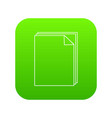 paper icon green vector image vector image