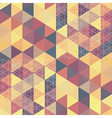 pattern geometric hexagon with triangles vector image