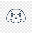 puppy toy concept linear icon isolated on vector image