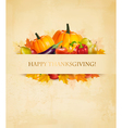 Retro Happy Thanksgiving Background vector image