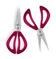 scissor 3d realistic scissor icon plastic vector image