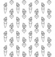 seamless pattern doodle carrot and beet vector image vector image