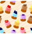 Seamless shortcake background vector image vector image