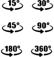 set angles 15304590 180 and 360 degrees ico