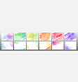 set colorful watercolor background vector image vector image
