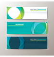 Set of modern design banners template vector image vector image