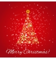 Shiny Christmas tree vector image vector image
