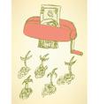 Sketch money kill in vintage style vector image vector image