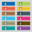 skyscraper icon sign Set of twelve rectangular vector image