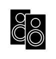 speakers icon black sign on vector image vector image