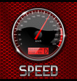 speedometer on red perforated background vector image vector image