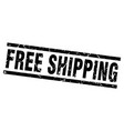 square grunge black free shipping stamp vector image vector image