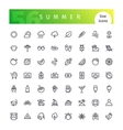 Summer Line Icons Set vector image
