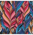 Texture with feathers in pink and blue colors vector image vector image
